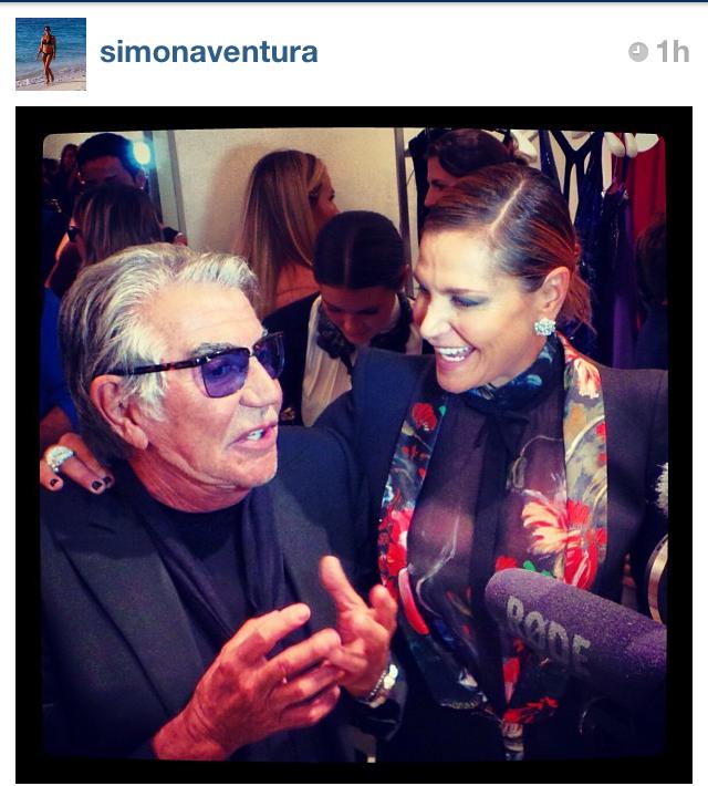 Simona Ventura da Roberto Cavalli